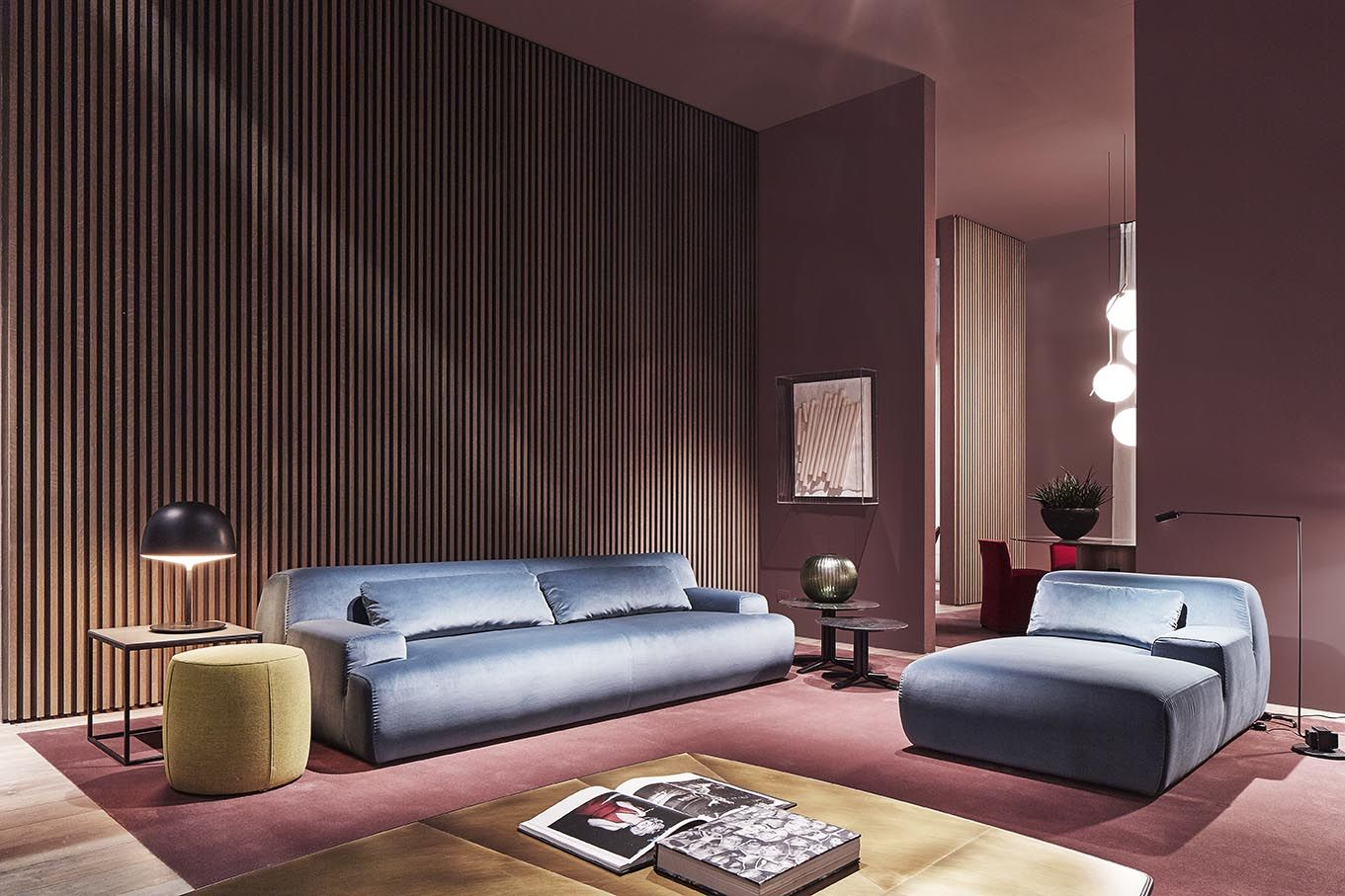 Sweet living room tone glossed in chic blue of #Norton sofa and ...