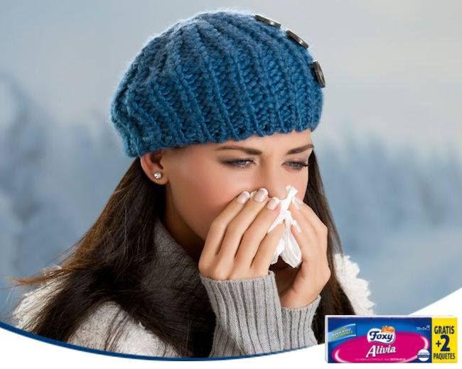 ¿Resfriado? Al estornudar, cubre tu boca con un pañuelo de papel y no con la mano. Evitarás propagar el virus entre los que te rodean.