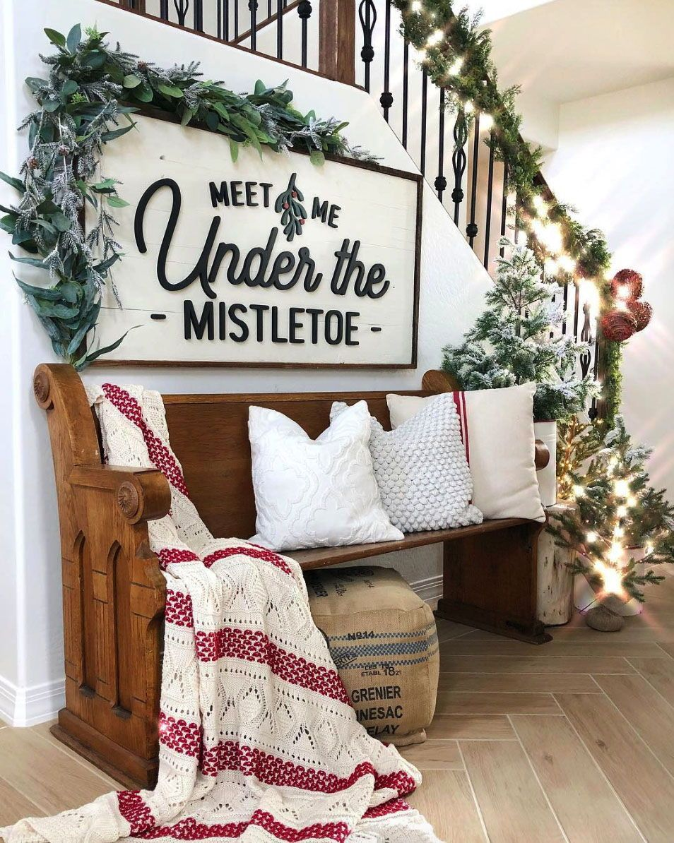 farm christmas decor on 28 gorgeous ways to decorate your home with christmas garland diy christmas decorations easy christmas decor inspiration christmas decorations rustic pinterest