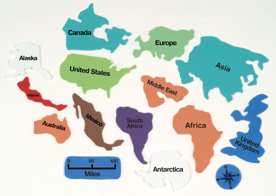 Image Result For Shapes Of Continents Around The World Pinterest - Different continents of the world