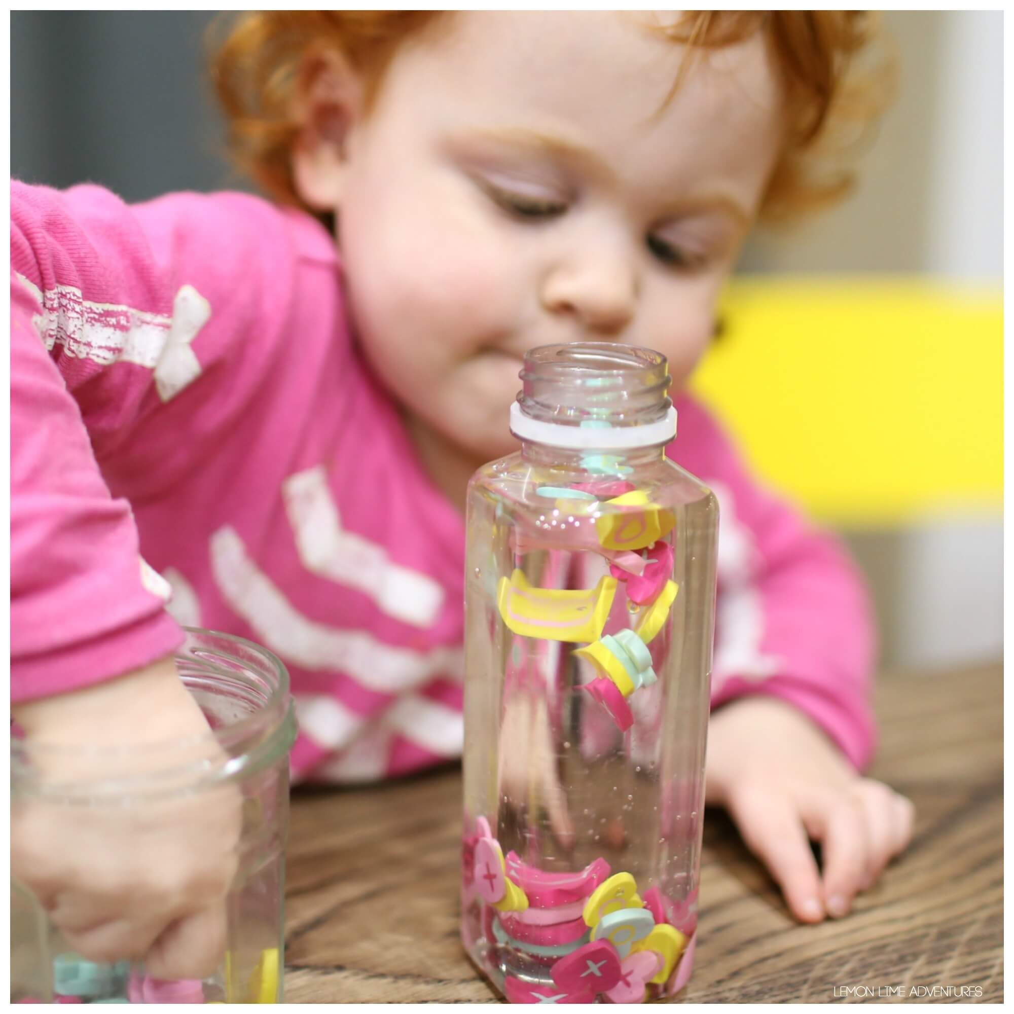 Suspended Heart Discovery Bottle Simple Sensory Bottles Discovery Bottles Sensory Bottles Bottle