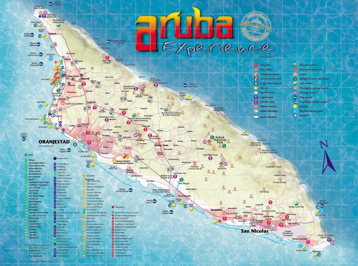 Aruba, Aruba - Detailed town/city map free download | Aruba in 2019 ...