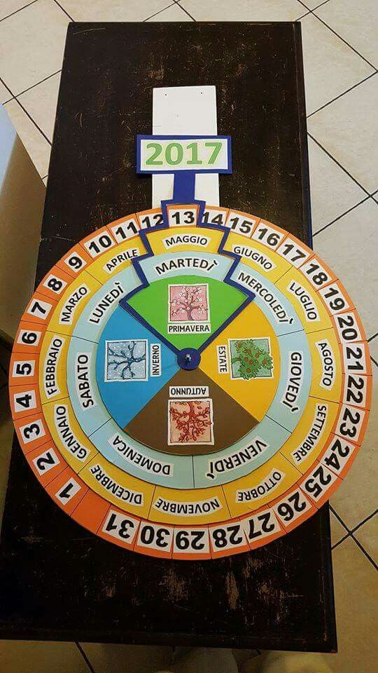 Costruire Calendario Scuola Infanzia.Calendario Perpetuo Completo Skola Cartelloni Scuola