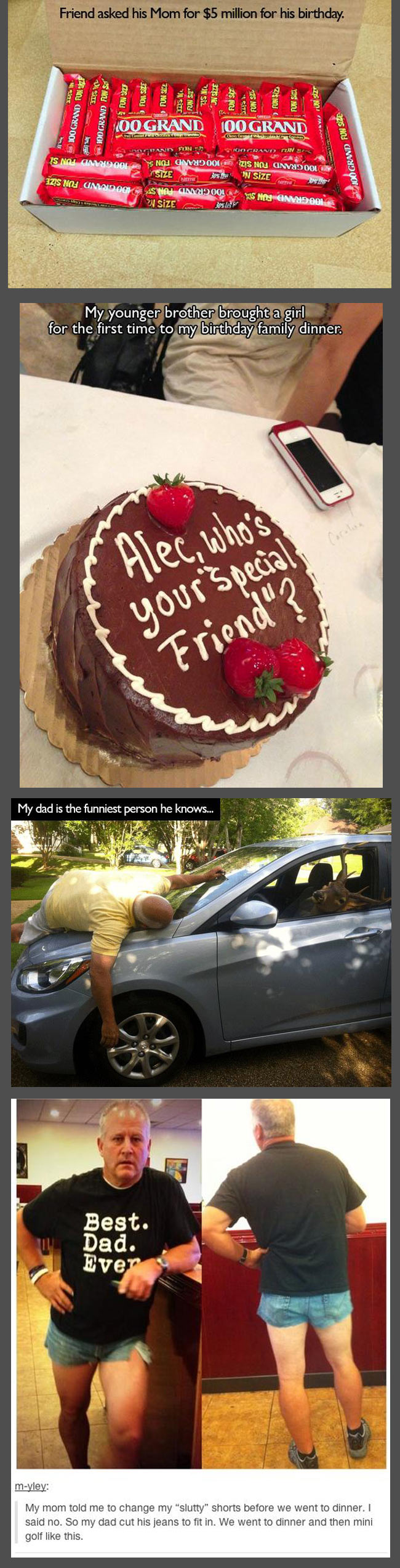Parents pranking their kids The Best Dad's act like this at least I do!