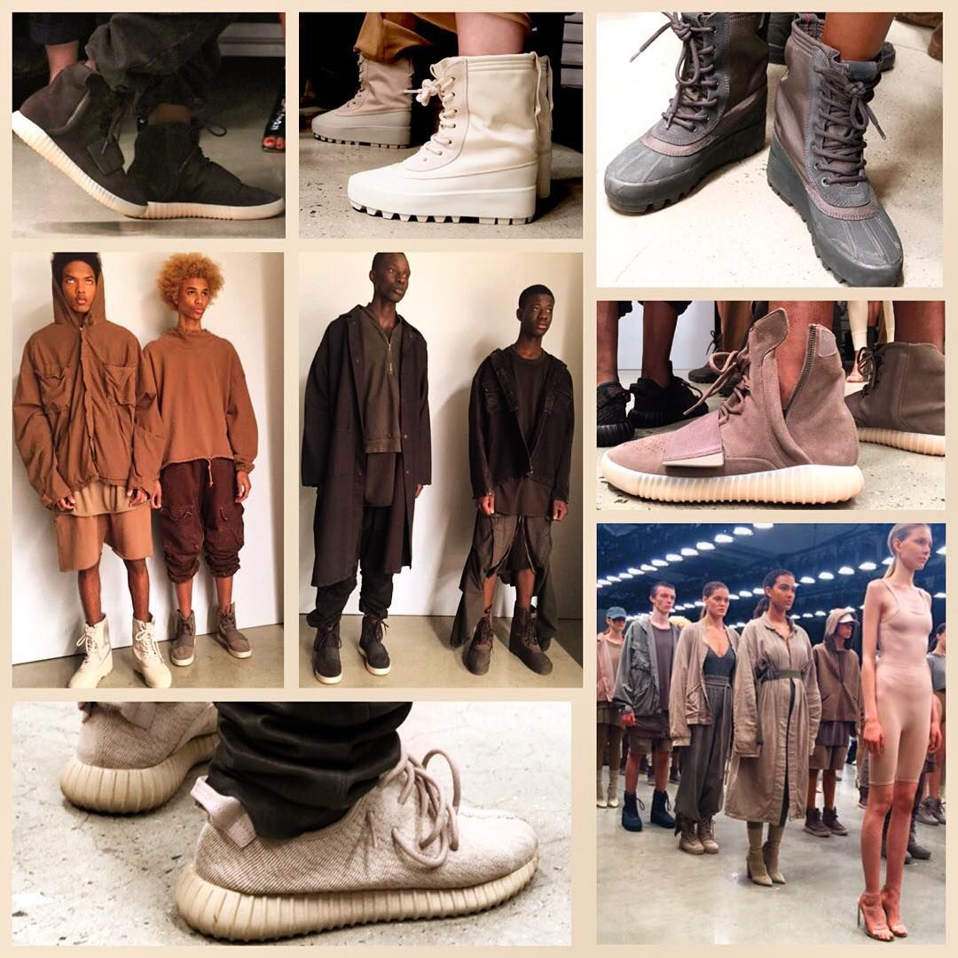 best loved 3409b f5a5d Some shoes and clothes of Yeezy Season 2. There are a few new colourways in Yeezy  boost 350, 750 and 950. Clothes featured tan, nude, pink, olive and black  ...