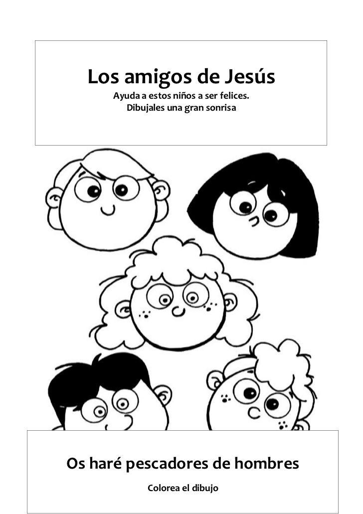 Los amigos de Jesús Ayuda a estos niños a ser felices. Dibujales una ...