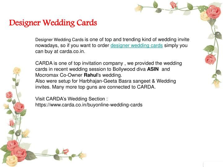 Designer Wedding Cards Wedding cards online, Wedding card and - best of invitation cards for wedding price