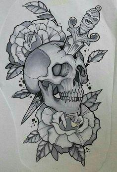 3cf1fa6a1f70310efbecfe416a91acda Rose Tattoos Skull Tattoos Jpg 236 348 With Images Skull Rose Tattoos Tattoo Sketches Sketches