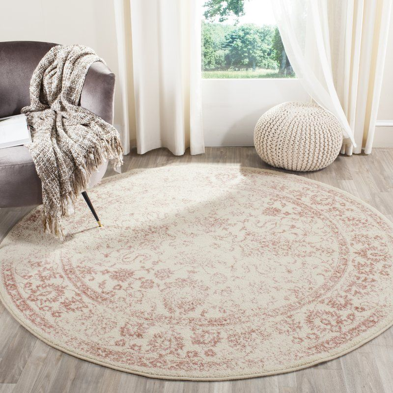 Howton Ivory Area Rug Round area rugs, Traditional area