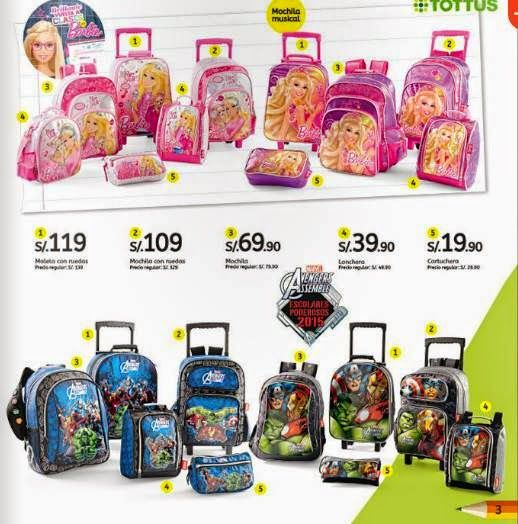 Mochilas De Barbie Y Spiderman Tottus Febrero 2015