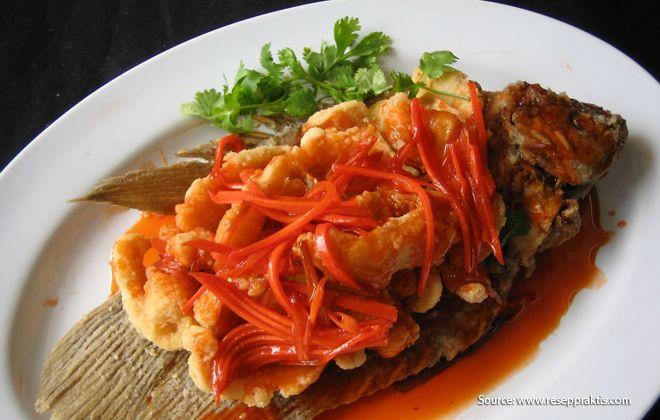 Resep Gurame Asam Manis Traditional Food Indonesian Food Sambal Recipe