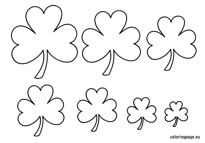 Related coloring pagesSaint Patrick\'s Day - ShamrockShamrock with ...