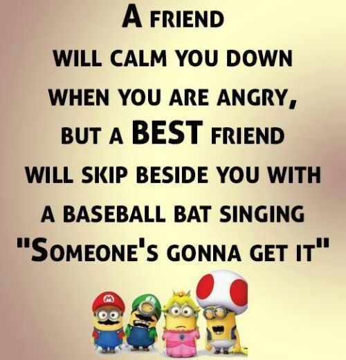 Best Friend Quotes Funny Quotes Pinterest Minions Quotes