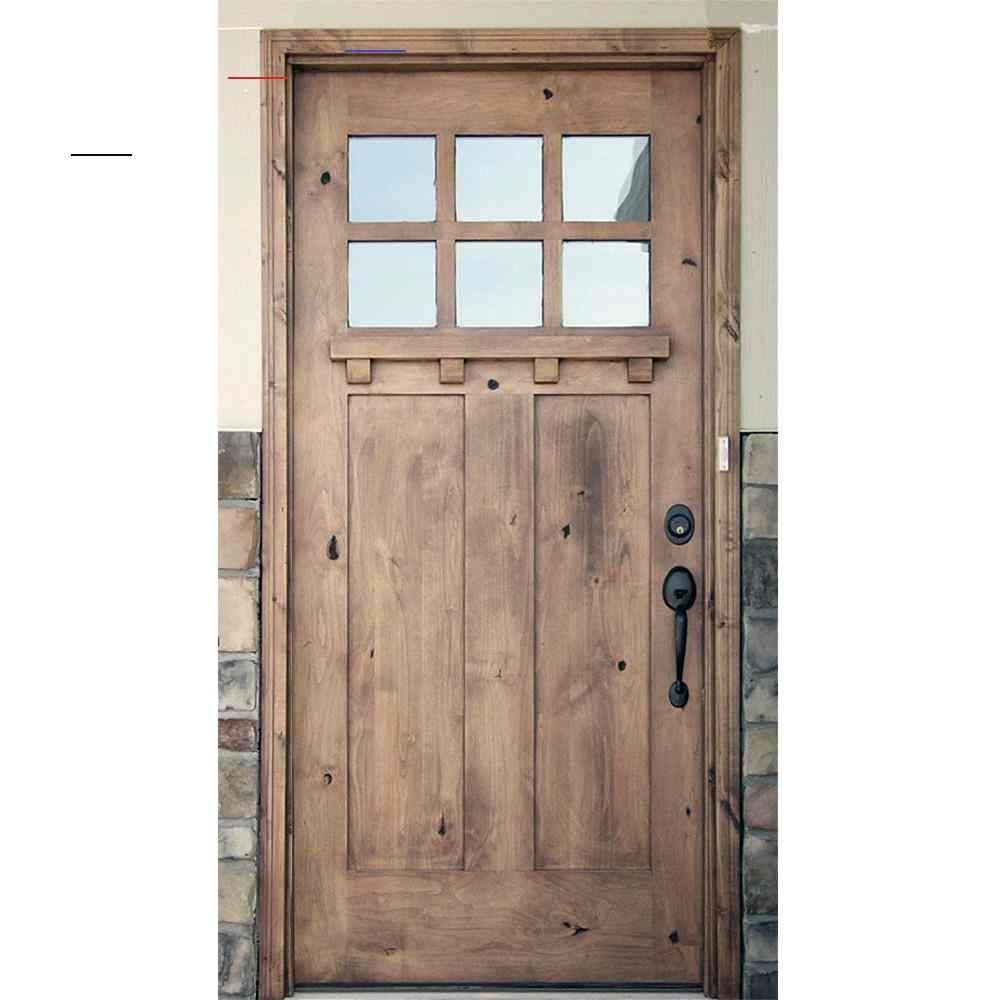 Krosswood Doors 36 In X 96 In Craftsman 2 Panel 6 Lite Clear Low E W Dentil Shelf Left Hand Unfinished Wood Alder Prehung Front Door Phed Ka 550ds 30 80 134 L In 2020