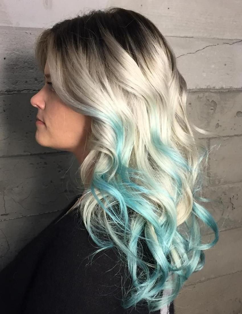 20 Mint Green Hairstyles That Are Totally Amazing Pink Blonde Hair Hair Styles Teal Hair Highlights