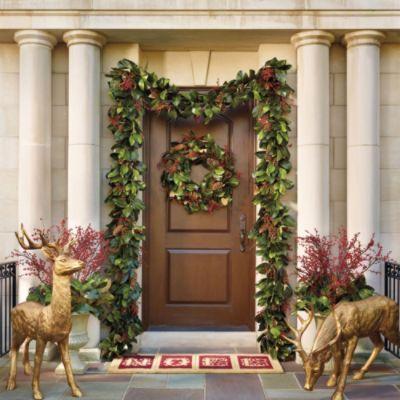 Southern Magnolia Outdoor Greenery Collection #Holiday #Christmas #Home #Interior #Design #Decor ༺༺  ❤ ℭƘ ༻༻