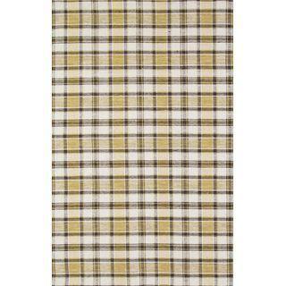 Modern Reversable Plaid Wool Kilim - 5' x 8'