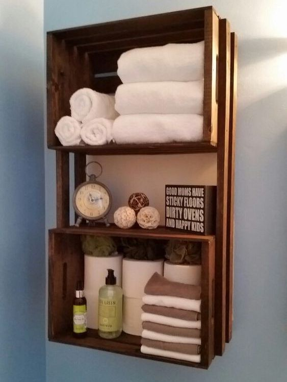 16 Fascinating DIY Shelves For Better Bathroom Organization