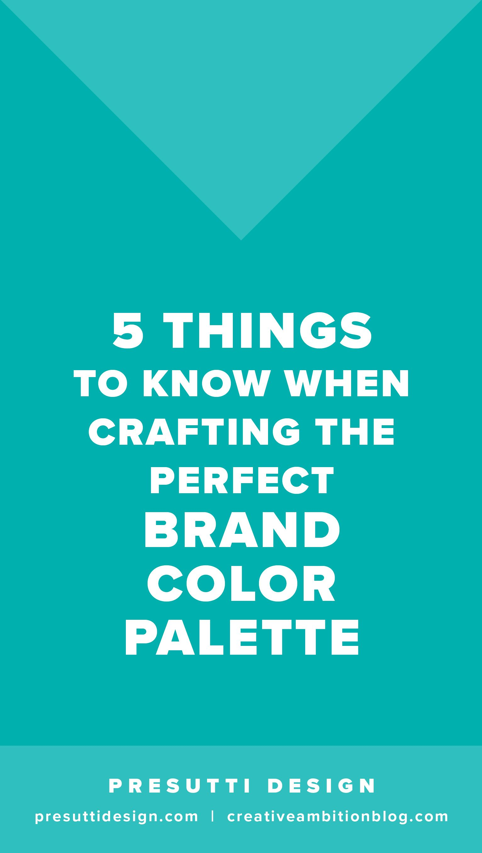 5 Things To Know When Crafting The Perfect Brand Color Palette