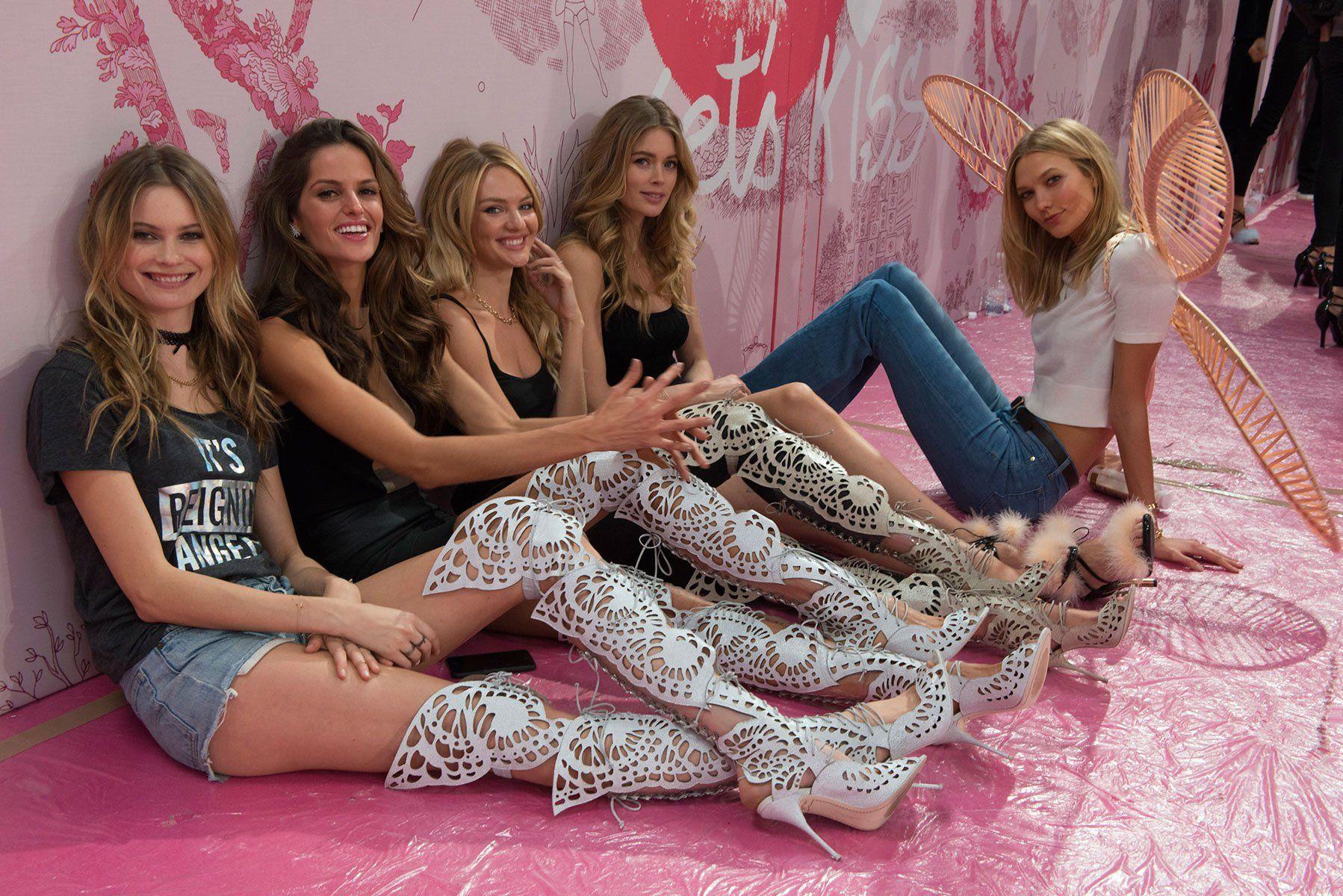 From left: Behati Prinsloo, Izabel Goulart, Candice Swanepoel, Doutzen Kroes, Karlie Kloss