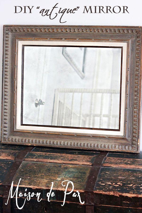 Antique Mirror Tutorial Antique Mirror Looking Glass Spray Paint