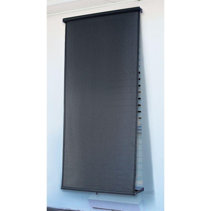 Windoware 2 4 X 2 1m Charcoal Retractable Blind Blinds Outdoor