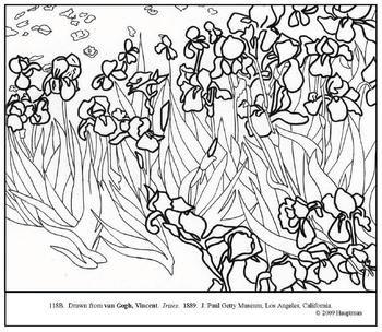 Vincent van gogh art coloring for kids pinterest - Coloriage van gogh ...