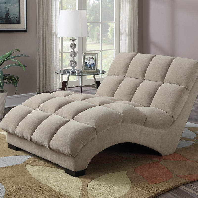 Costco Uk Boylston Wide Chaise Lounger In Taupe Fabric Elegant