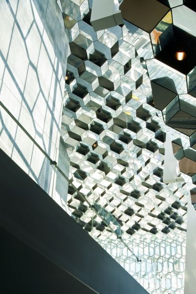 interior view of Harpa - Reykjavik Concert Hall and Conference Centre