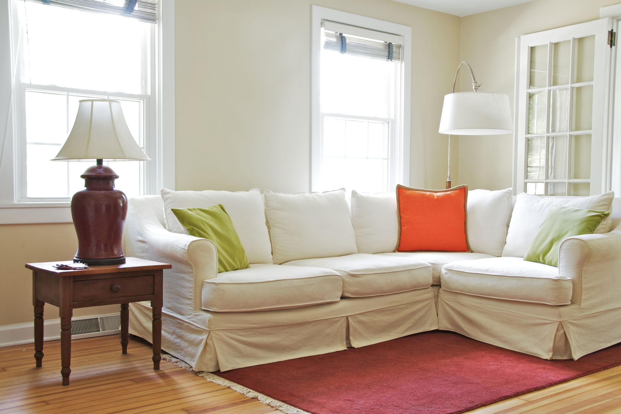 16 Easy Ways To Get Your House Ready For Spring Sofas For Small Spaces Small Space Living Room Small Apartment Couch