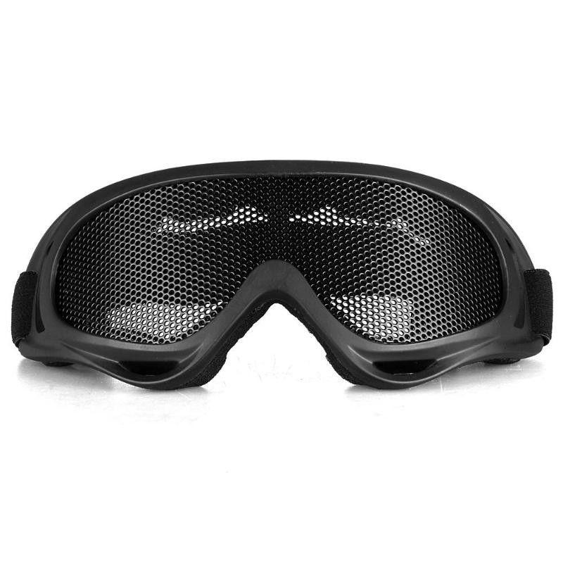 004b2821cf1 Tactical Glasses Motorcycle Airsoft Anti Fog Metal Mesh Big Goggles Eye  Safety Protection Glasses Black gafas