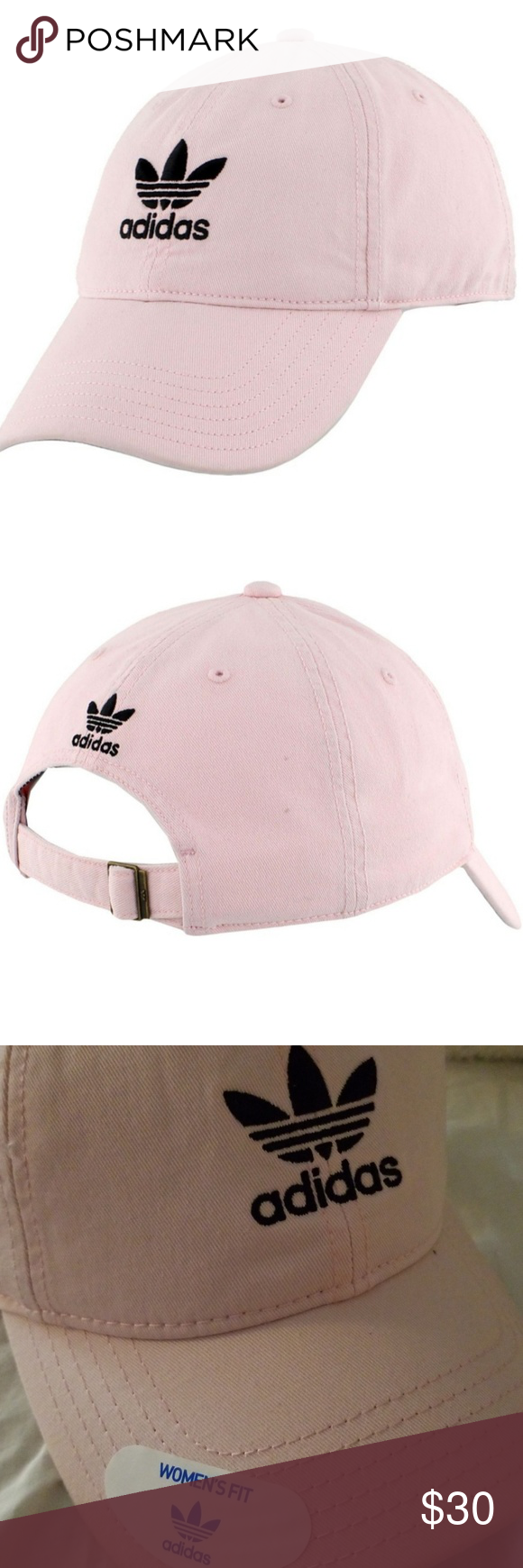 498b03cf732 Adidas Womens Fit Baseball Cap Hat Fresh light Pink womens fit hat adidas  Accessories Hats