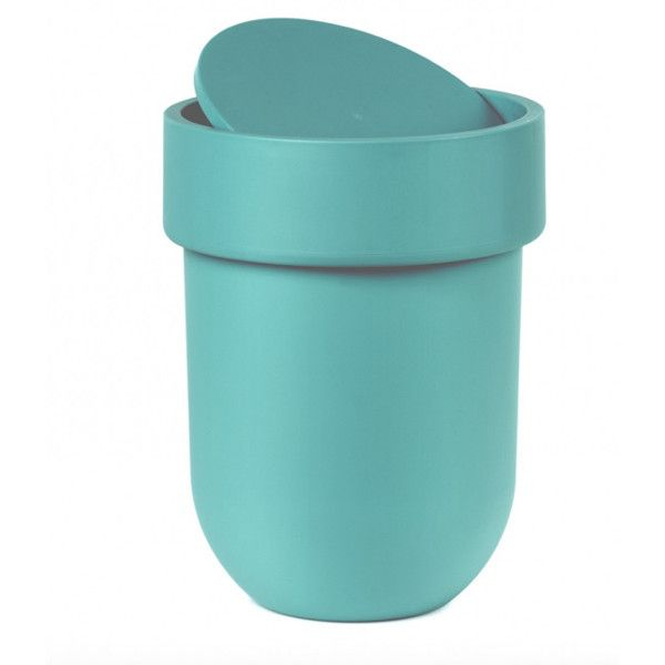 Umbra Touch Waste Can With Lid Black By ($20) ❤ liked on Polyvore ...