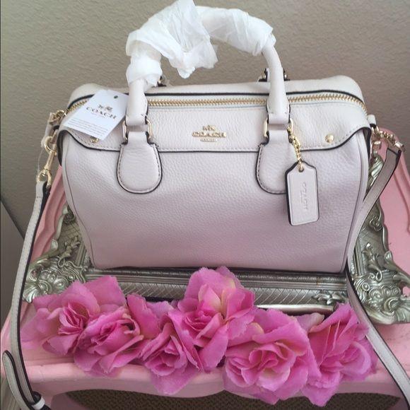 Coach Mini Bennett Satchel Bag This is a really cute chalk white mini  satchel! It s not a regular sized purse 73560d9d1d28b