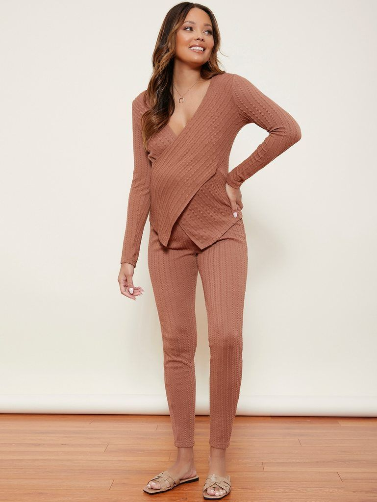 Joyaria Womens Long Sleeve Maternity Nursing Pajama//Pj Pants Set for Breastfeeding