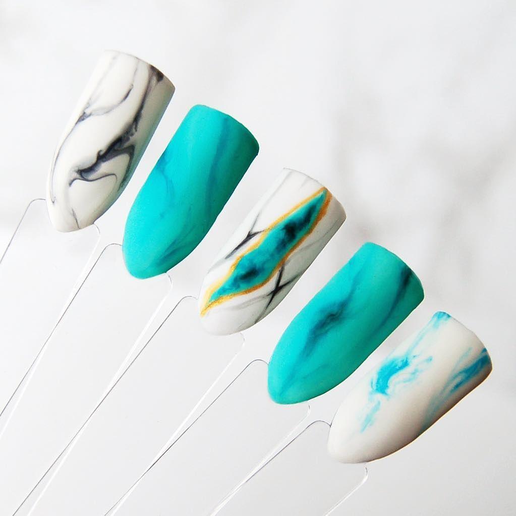 Paznokcie hybrydowe Aquarelle / NeoNail | Nails | Pinterest | Marble ...