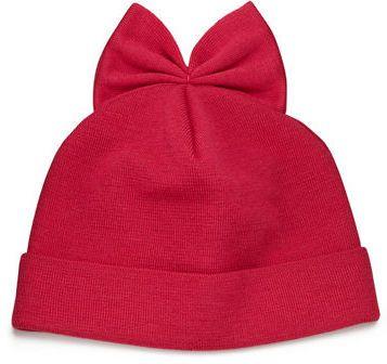 Federica Moretti Knit Wool Beanie w/ Bow