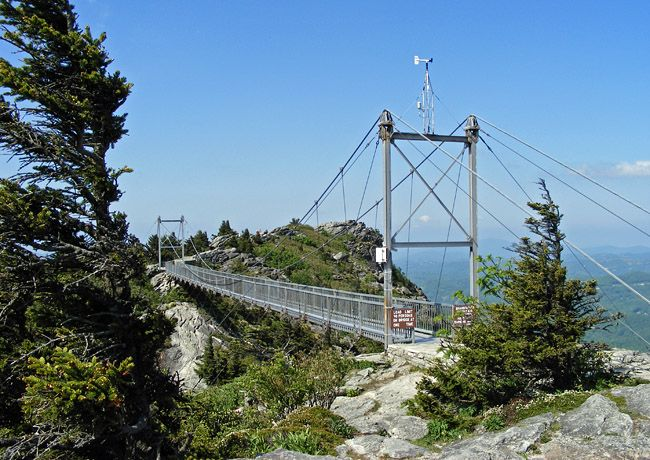 grandfather mountain nc   Grandfather Mountain Swinging Bridge - North Carolina