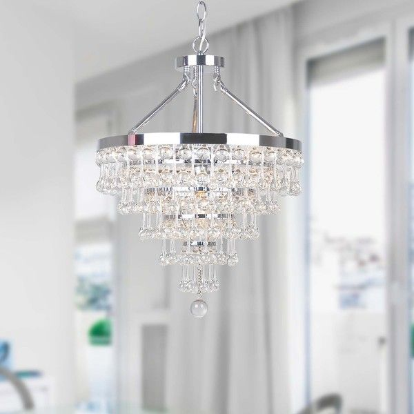 Claudia Chrome 5 Light Chandelier With Crystal Gl Drop