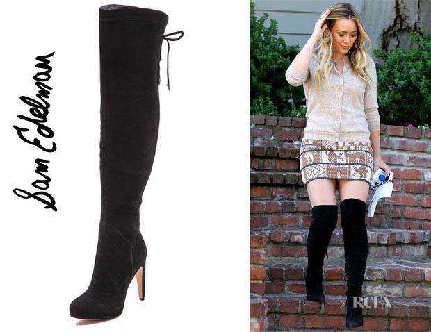b19cfcc53c78e5 Hilary Duff s Sam Edelman  Kayla  Over The Knee Boots - Red Carpet Fashion  Awards