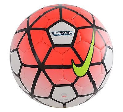 NIKE PITCH BARCLAY'S PREMIER LEAGUE SOCCER BALL SIZE 5 2015/16 Red ...