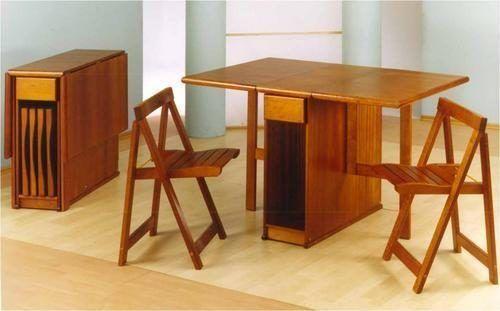 Mesa con sillas plegables para interior | Mesa Plegable
