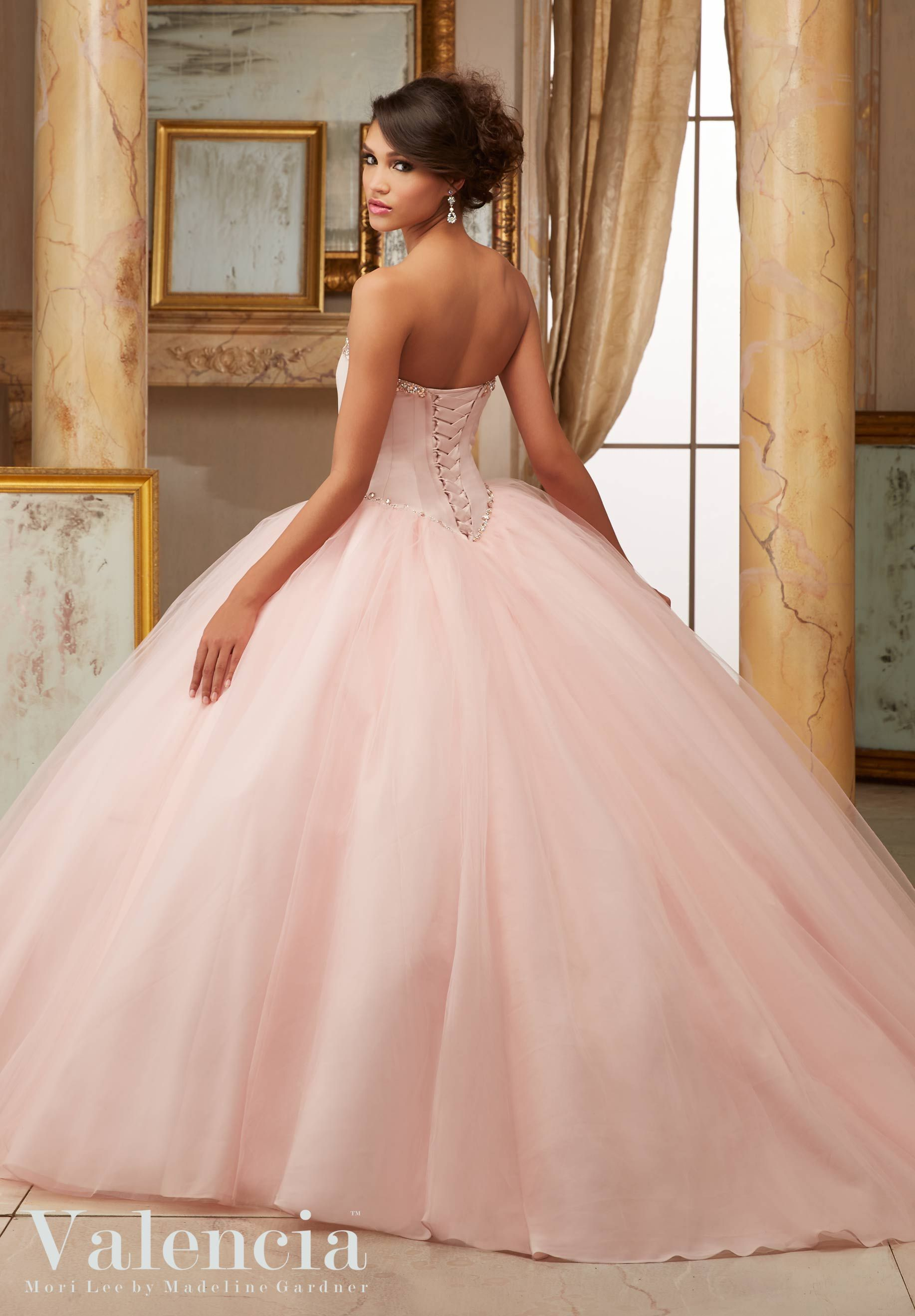Princess Cinderella Ball Gown with Sweetheart Neck and Crystal Beading.  Colors Available  Scuba Blue 100b2f192635