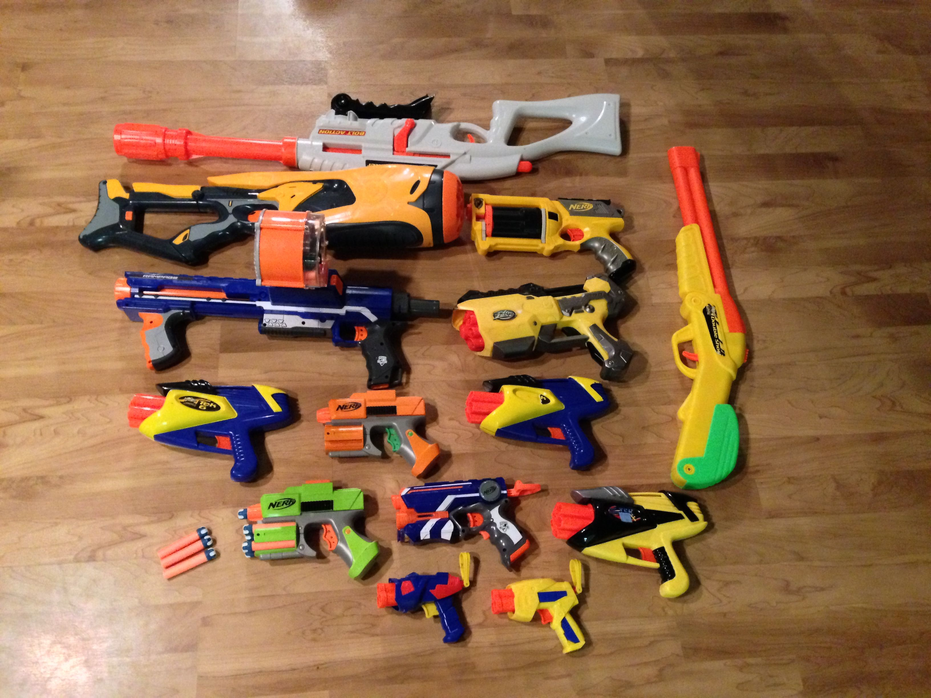 Nerf gun party - Stock up on used nerf guns at goodwill. I bought 12