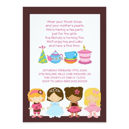 Dress-Up Birthday or Tea Party Invitations | More Tea party ...