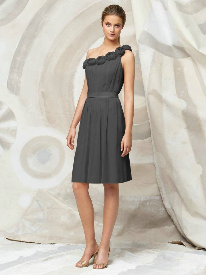 Crinkle Chiffon charcoal gray Evening Dresses DAYT1315 | Wedding ...
