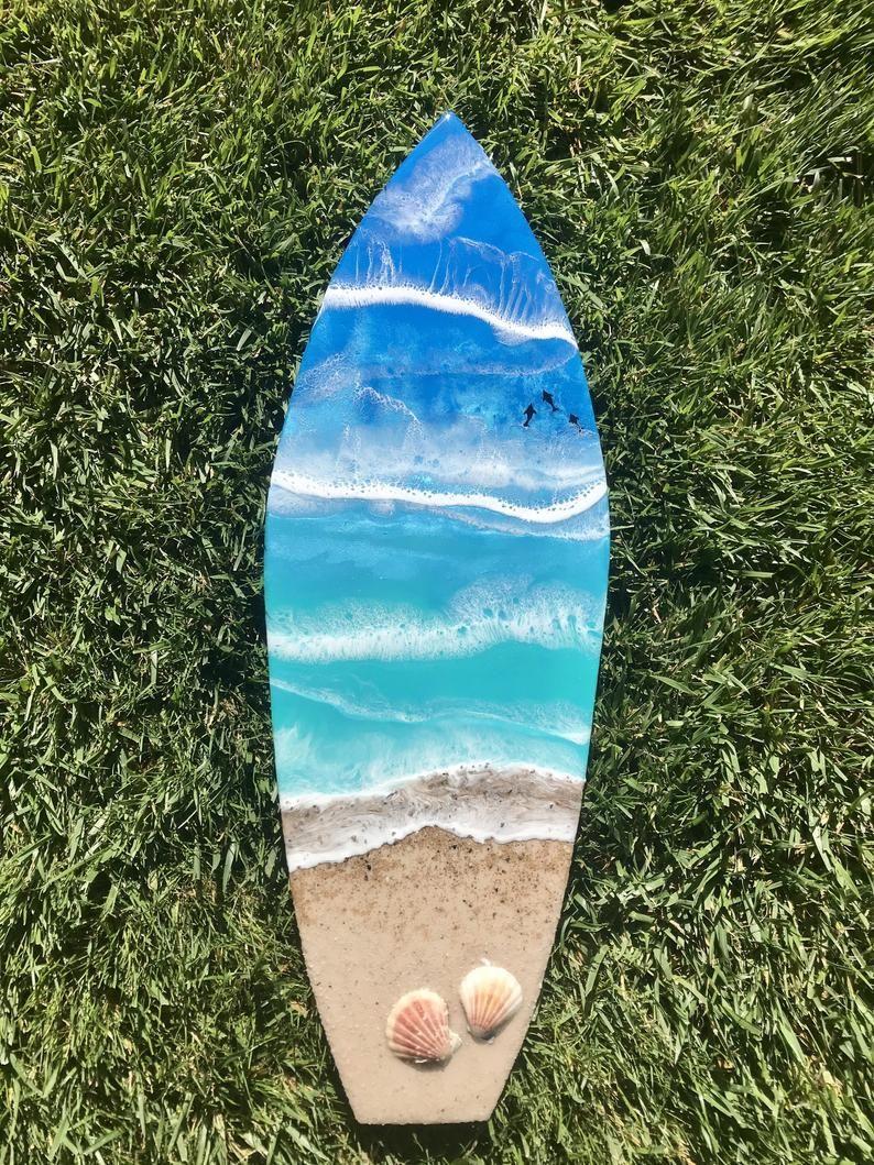 Surfboard Decoration In Ocean Design Surfbrett Dekor Surfbrett Surfboard