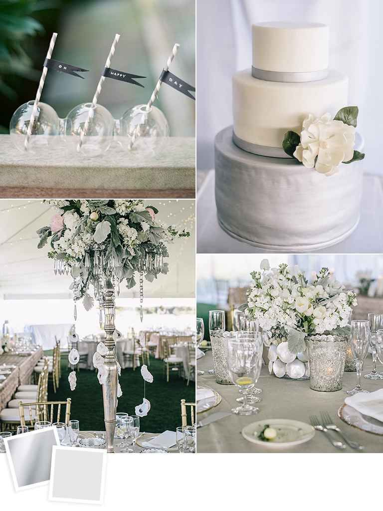 12 Fall Wedding Color Combos to Steal   Silver wedding colours ...