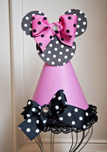 Minnie Mouse Birthday Hat Available In Red Or Pink Personalize It