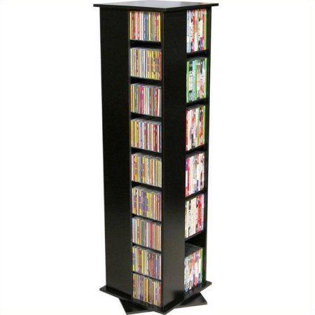 "Venture Horizon 56"" 4-Sided CD DVD Spinning Tower-Oak - Walmart.com"